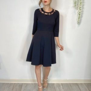 DONNA MORGAN fit & flare dress grommet laced